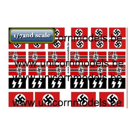 WW II German flags