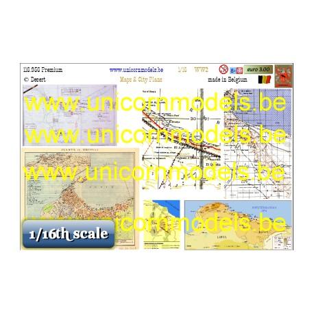 Kaarten woestijnoorlog