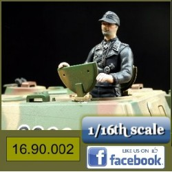 WO 2 Duitse Tank Officier
