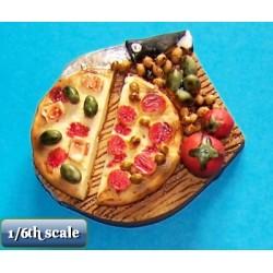 pizza halves