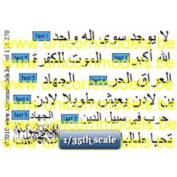 Arab slogans Iraq, Intifada, Taliban