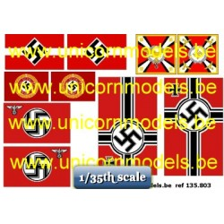 WW II Nazi flags (set 1)