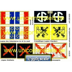 WW II SS Volunteer Flags