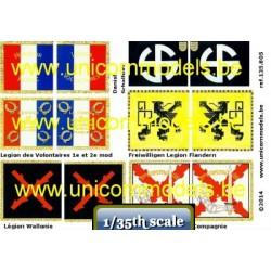 WW II SS Volunteer Flags