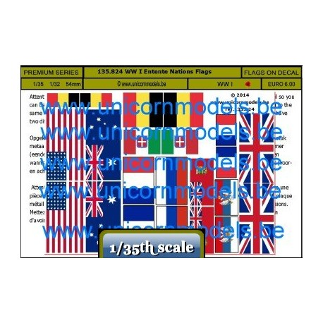 WW I Entente Nations Flags