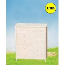 Linen cabinet 4 + 2 drawers