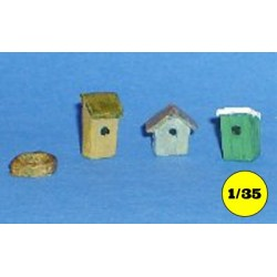 Set birdhouses