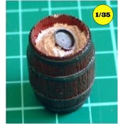 1 large barrel open