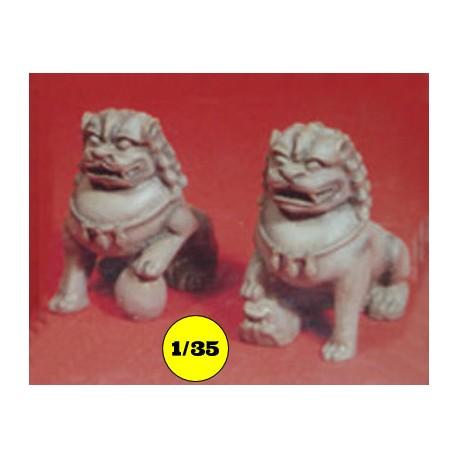Chinese leeuwen wachters