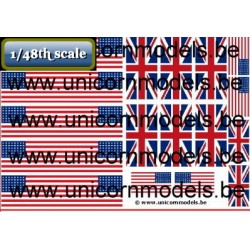 WW II Allied flags