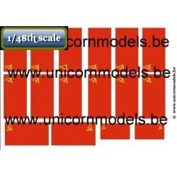 WW II Russian flags