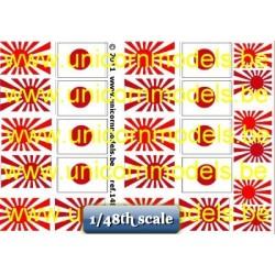 WO 2 Japanse vlaggen