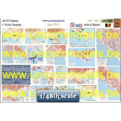 Italian campaign maps roadmaps