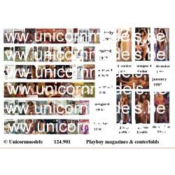 Playboy magazines & centerfolds