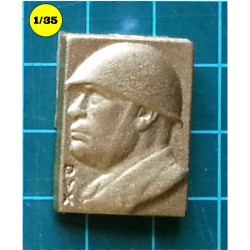 Mussolini wall plaque DUX 27x19 mm (resin)