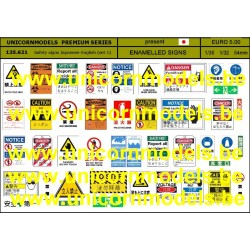 Safety signs Japanese-English (set 1)