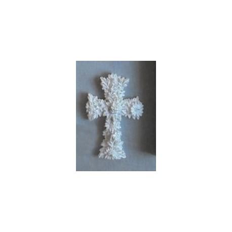kruisbeeld formée met bloemen