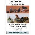 Pets & birds (white metal)