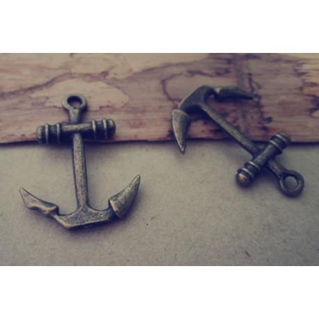 Anchor 19 x 26 mm, brass