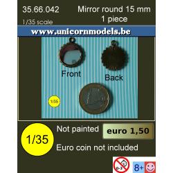 Mirror round 15 mm