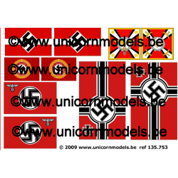 WW II German nazi flags