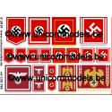 WW II German Podium & Building flags