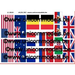 Entente vlaggen WO 1