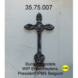 Metaal kruisbeeld Normandië