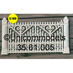Garden fence with pilars 65 mm