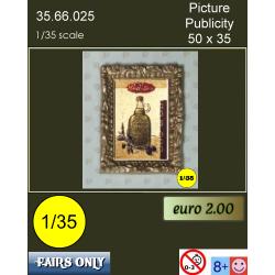 schilderij publiciteit 50 x 35 mm