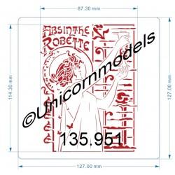 Absinthe Robette small stencil