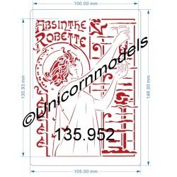 Absinthe Robette medium stencil
