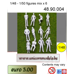 figurines civilian mix white