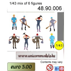 figurines civilian mix painted 1/43