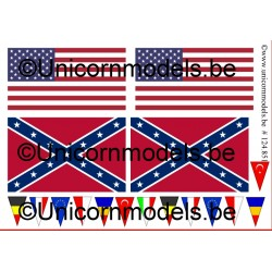 US + rebel flags for trucks