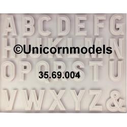Western European alphabet letters set 1