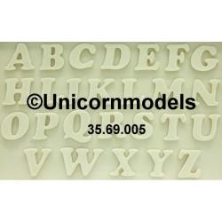 Western European alphabet letters set 2