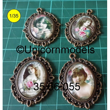 Domed picture frame 40 x 22 mm Portrait
