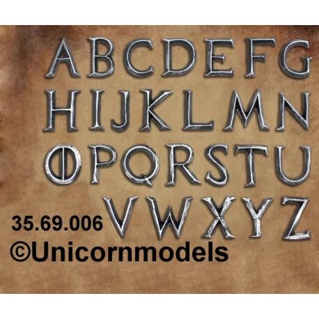Iron alphabet letters