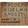 Ijzeren alfabet letters
