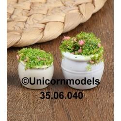 flower pot round potted set 2