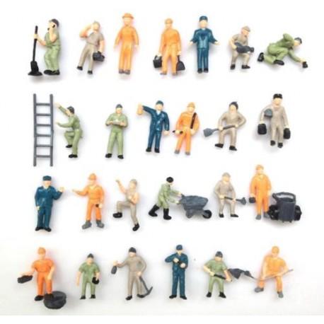 Figurines civilian workers