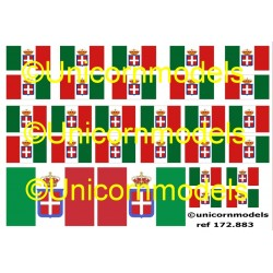 Italian naval flags WWI + WWII
