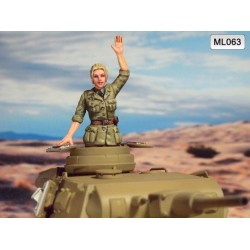 ML-063 WWII DAK Panzer Commander 1947