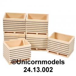 wood potato box