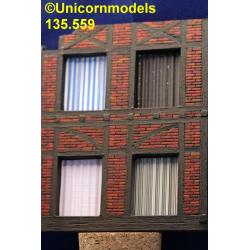 Curtains corrugated set 1